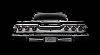 Black Digital Art - '63 Impala by Douglas Pittman