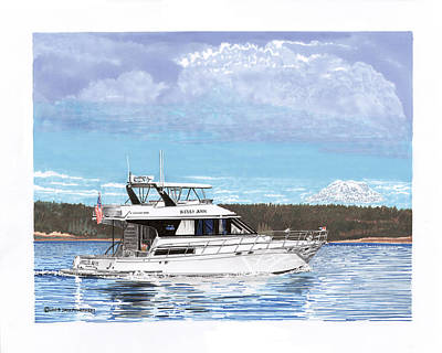 Puget Sound Yachting Print by Jack Pumphrey