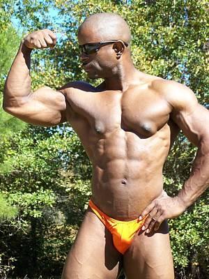 Male Muscle Art Print by Jake Hartz
