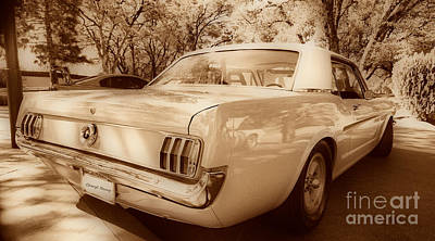65 Mustang Print by Cheryl Young