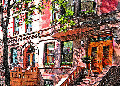 Nyc Mixed Media - 67th Street Ny by Richard Dagostino