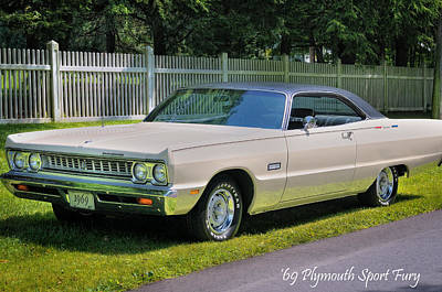 Fury Photograph - '69 Plymouth Sport Fury by Thomas Schoeller