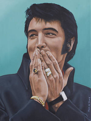 Elvis Presley Painting - 69 Press Conference by Rob De Vries