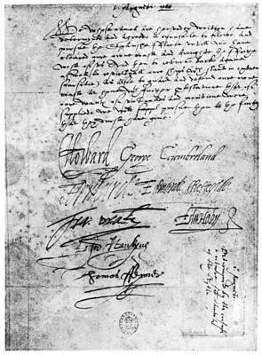 Resolution Painting - Spanish Armada, 1588 by Granger