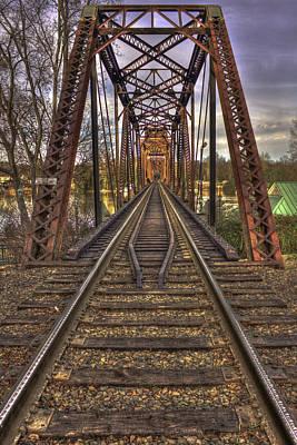 6th Street Rail Road Bridge Print by Reid Callaway