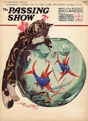 Goldfish Drawing - 1930s,uk,the Passing Show,magazine Cover by The Advertising Archives