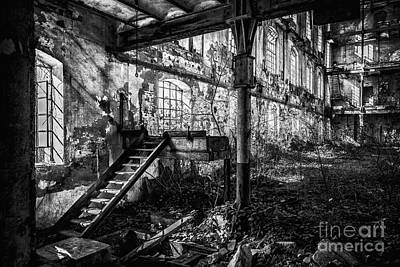 Building Factory Work Vintage Photograph - Abandoned Sugar Mill by Traven Milovich