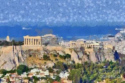 Acropolis Of Athens Print by George Atsametakis