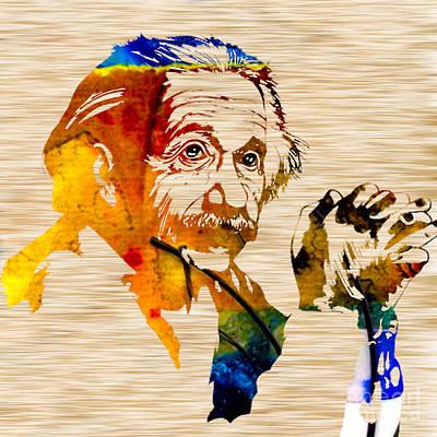 Einstein Mixed Media - Albert Einstein by Marvin Blaine