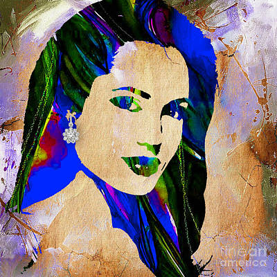 Celebrity Mixed Media - Angelina Jolie Collection by Marvin Blaine
