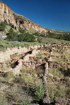 Pueblo Architecture Photograph - Bandelier National Monument by Jim West