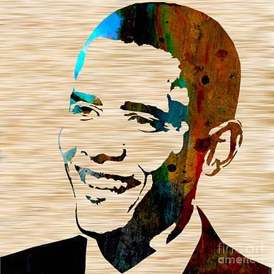 President Barack Obama Mixed Media - Barack Obama by Marvin Blaine
