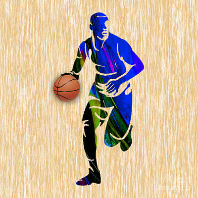 Basketball Print by Marvin Blaine