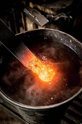 Blacksmith Photograph - Blacksmith At Work by Aberration Films Ltd