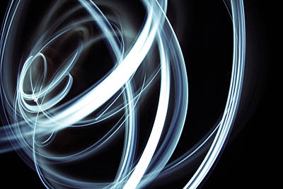 Special Effects Photograph - Blue Lines  by Les Cunliffe