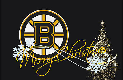 Boston Bruins Print by Joe Hamilton