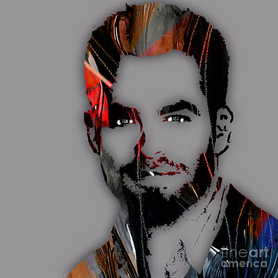 Chris Pine Collection Print by Marvin Blaine