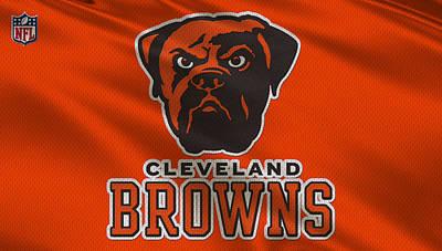 Cleveland Browns Uniform Print by Joe Hamilton