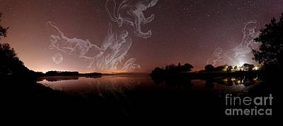 Virgo Photograph - Constellations In A Night Sky by Laurent Laveder