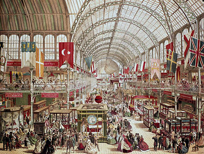 Hyde Park Painting - Crystal Palace, 1851 by Granger