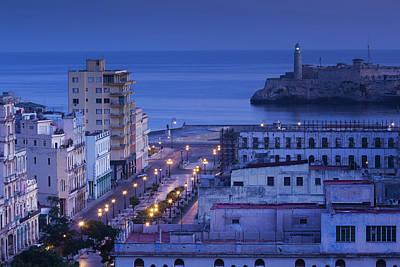 Prado Photograph - Cuba, Havana, Elevated City View by Walter Bibikow