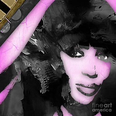 Cool Mixed Media - Empires Naomi Campbell Camilla by Marvin Blaine