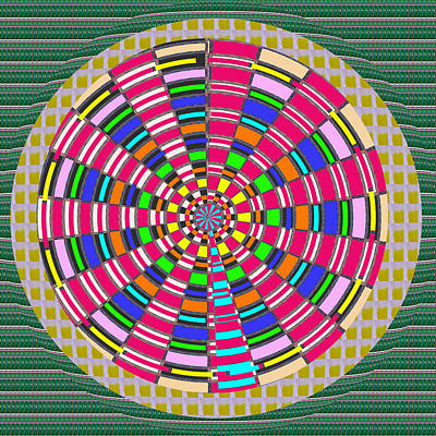 Healing Mixed Media - Focus Target Yoga Mat Chakra Meditation Round Circles Roulette Game Casino Flying Carpet Energy Mand by Navin Joshi