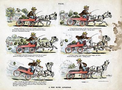 Free Silver Cartoon, 1896 Print by Granger