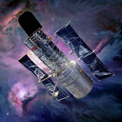 Messy Photograph - Hubble Space Telescope by Detlev Van Ravenswaay