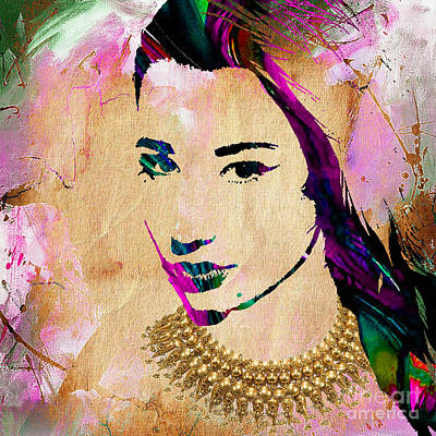 Woman Mixed Media - Iggy Azalea Collection by Marvin Blaine