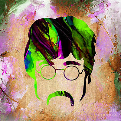 Musician Mixed Media - John Lennon Collection by Marvin Blaine