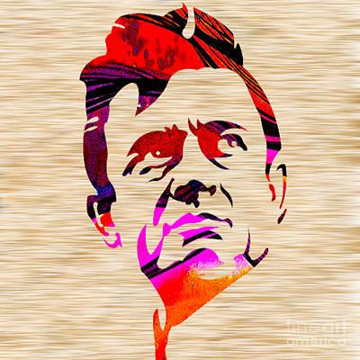 Johnny Mixed Media - Johnny Cash by Marvin Blaine
