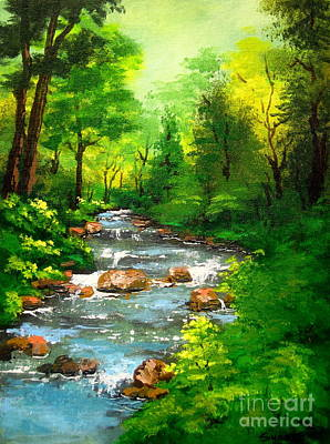 Serenity Oregon Painting - Lithia  Park - by Shasta Eone
