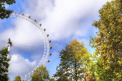 London Eye Photograph - London by Joana Kruse