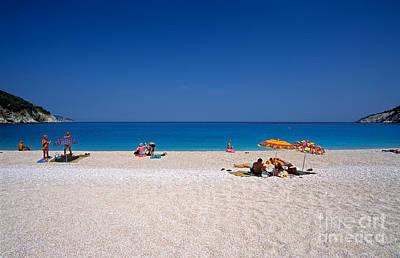 Greek Photograph - Myrtos Beach by George Atsametakis