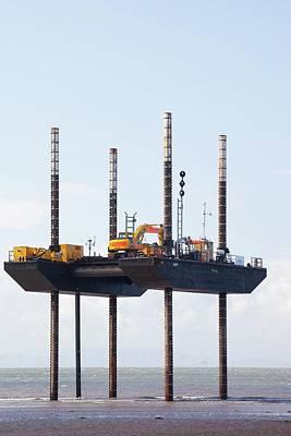 Offshore Wind Farm Construction Print by Ashley Cooper