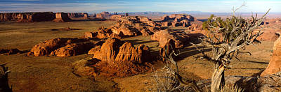 Bare Trees Photograph - Rock Formations On A Landscape by Panoramic Images