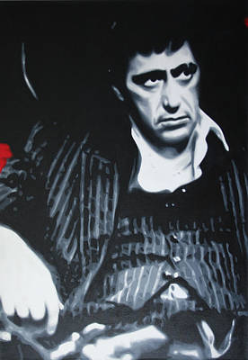 Scarface Print by Luis Ludzska