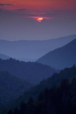Smoky Mountain Sunset Print by Andrew Soundarajan