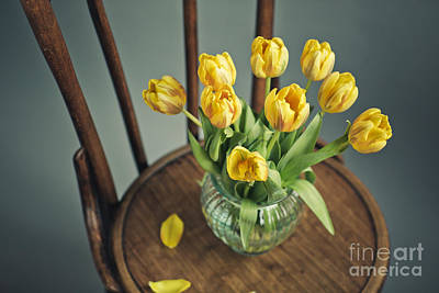 Still Life With Yellow Tulips Print by Nailia Schwarz