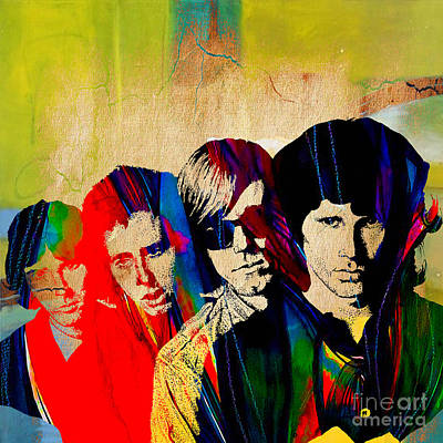 Musicians Mixed Media - The Doors by Marvin Blaine