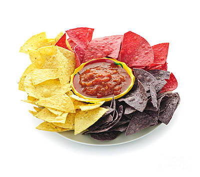 Tortillas Photograph - Tortilla Chips And Salsa by Elena Elisseeva
