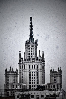 7 Towers Of Moscow Print by Stelios Kleanthous