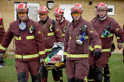 Training Exercise For Major Emergency Print by Public Health England