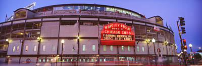 Chicago Cubs Stadium Print featuring the photograph Usa, Illinois, Chicago, Cubs, Baseball by Panoramic Images