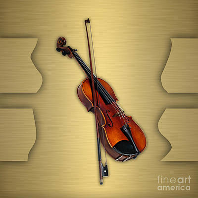 Violin Mixed Media - Violin Collection by Marvin Blaine