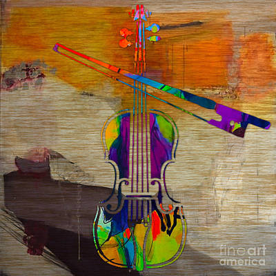 Orchestra Mixed Media - Violin by Marvin Blaine