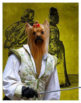 Yorkshire Terrier Art Painting - Yorkshire Terrier Art Canvas Print by Sandra Sij