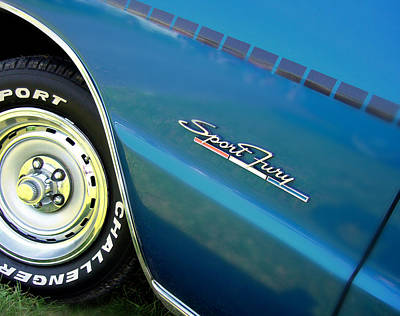 70 Plymouth Sport Fury Gt Details Print by Thomas Schoeller
