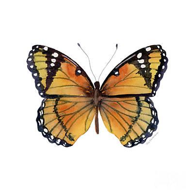 76 Viceroy Butterfly Original by Amy Kirkpatrick